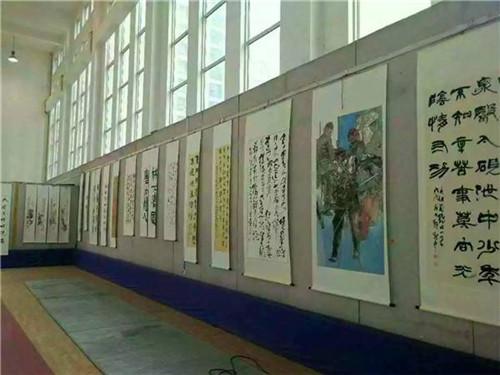 二七区迎接改革开放40周年书画展开幕