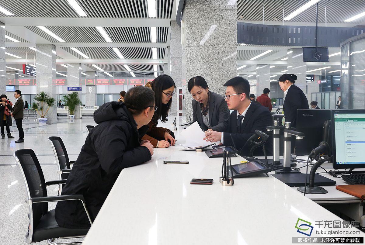 1月2日,北京市政务服务中间开通综相符窗口。图为北京市政务服务中间大厅综相符窗口(图片来源:tuku.qianlong.com)。千龙网记者 耿子叶摄