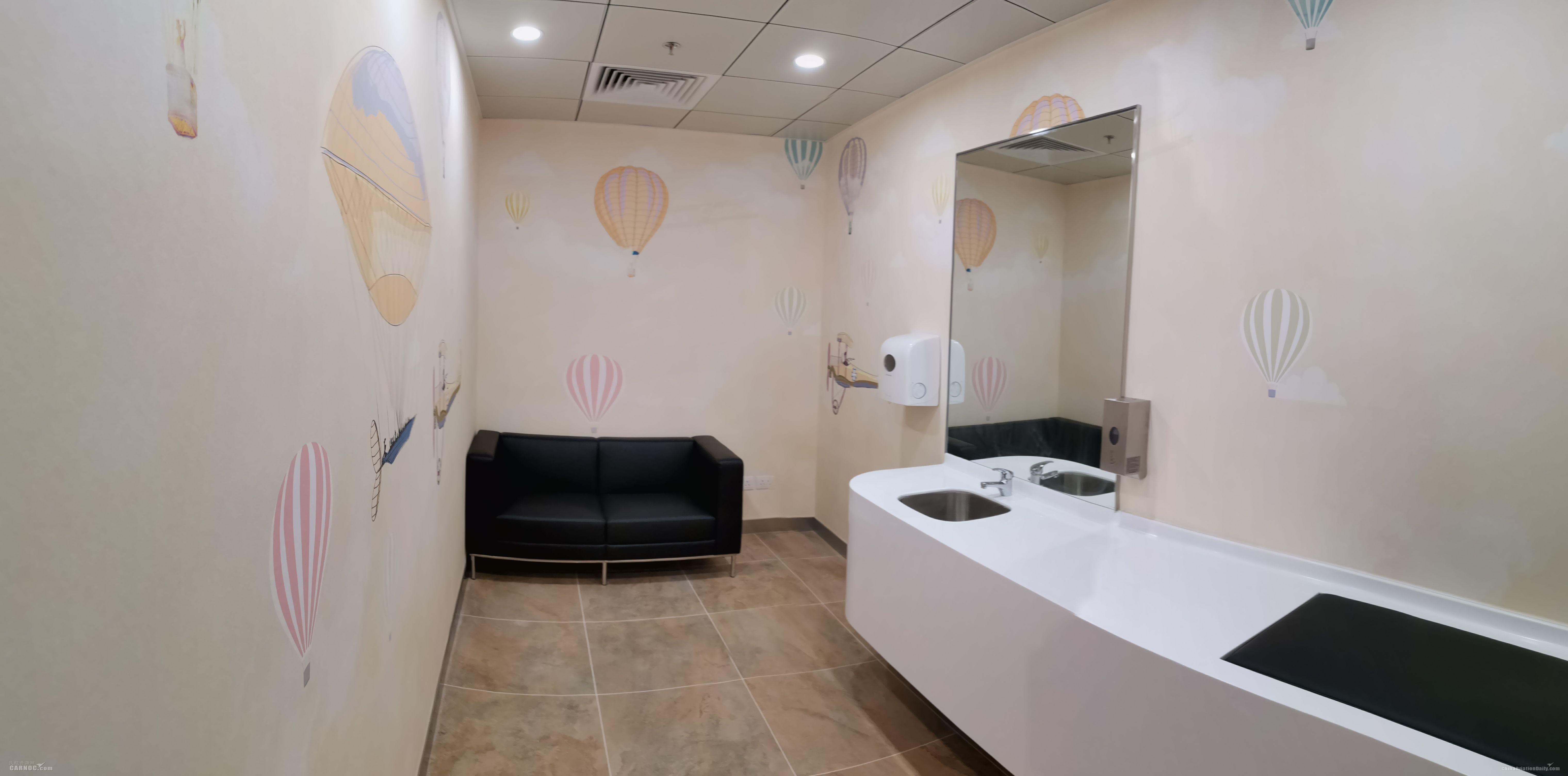 图:澳门国际机场客运大楼离境层非禁区婴儿室。