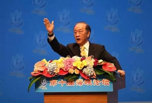 资料图片:2018年6月6日,台湾新党主席郁慕明在厦门出席第十届海峡论坛大会。(视觉中国)