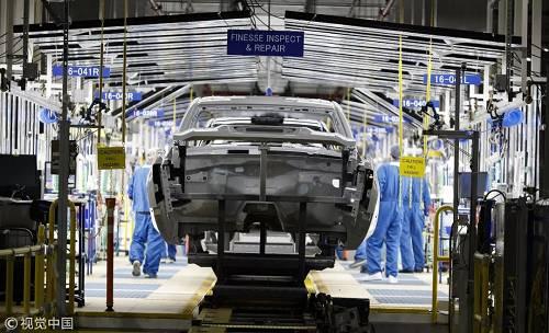 美国密歇根,通用汽车装配工厂。