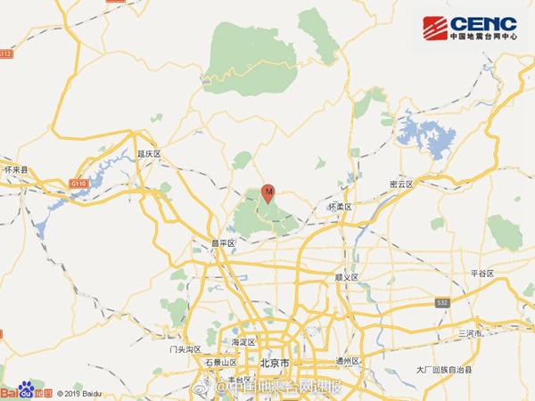 怀柔3.0级地震 系北京近20多年来首次三级地震