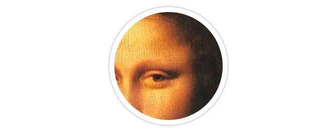 """1625年对此画的一段记述中指出,""""这位女士在其他方面都很美,就是几乎没有眉毛""""。蒙娜丽莎的眉毛问题曾引起广泛讨论。2007年,法国艺术品技术分析专家帕斯卡·科特通过高分辨率扫描发现了一根眉毛的痕迹,至少说明列奥纳多曾为蒙娜丽莎绘制过眉毛。眉毛消失的可能性之一是,列奥纳多在油性基底上绘制的眉毛,因为耗时太久,基底已经干燥了。这就意味着在后来清理这幅画的时候眉毛很容易被擦掉。"""