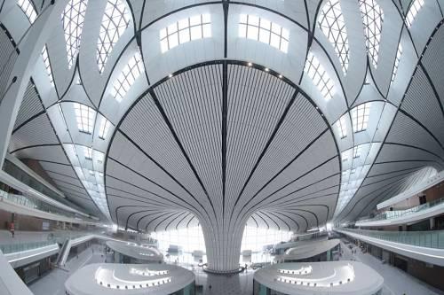 北京大兴国际机场航站楼内景(新华社)