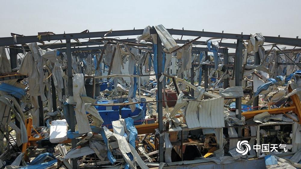 触目惊心!辽宁开原工业园龙卷风过后几成废墟