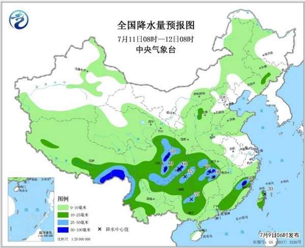 """广东福建加入强降雨""""战队"""" 全国8省区有暴雨大暴雨"""