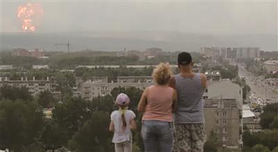 俄罗斯一军用物资中心起火爆炸 3500名居民紧急疏散
