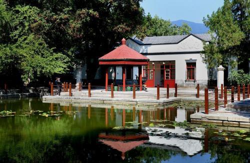秋日的香山公园,苍松翠柏,空气清新。