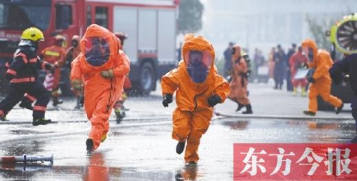 """河南""""119""""消防宣传月启动 """"火焰蓝""""现场展现""""铁军""""风采"""