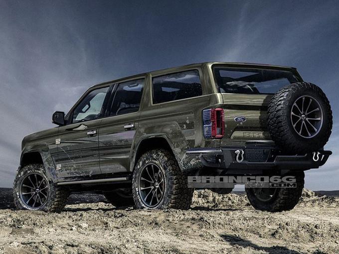 福特新硬派SUV曝光 搭2.3T引擎竞争Jeep牧马人