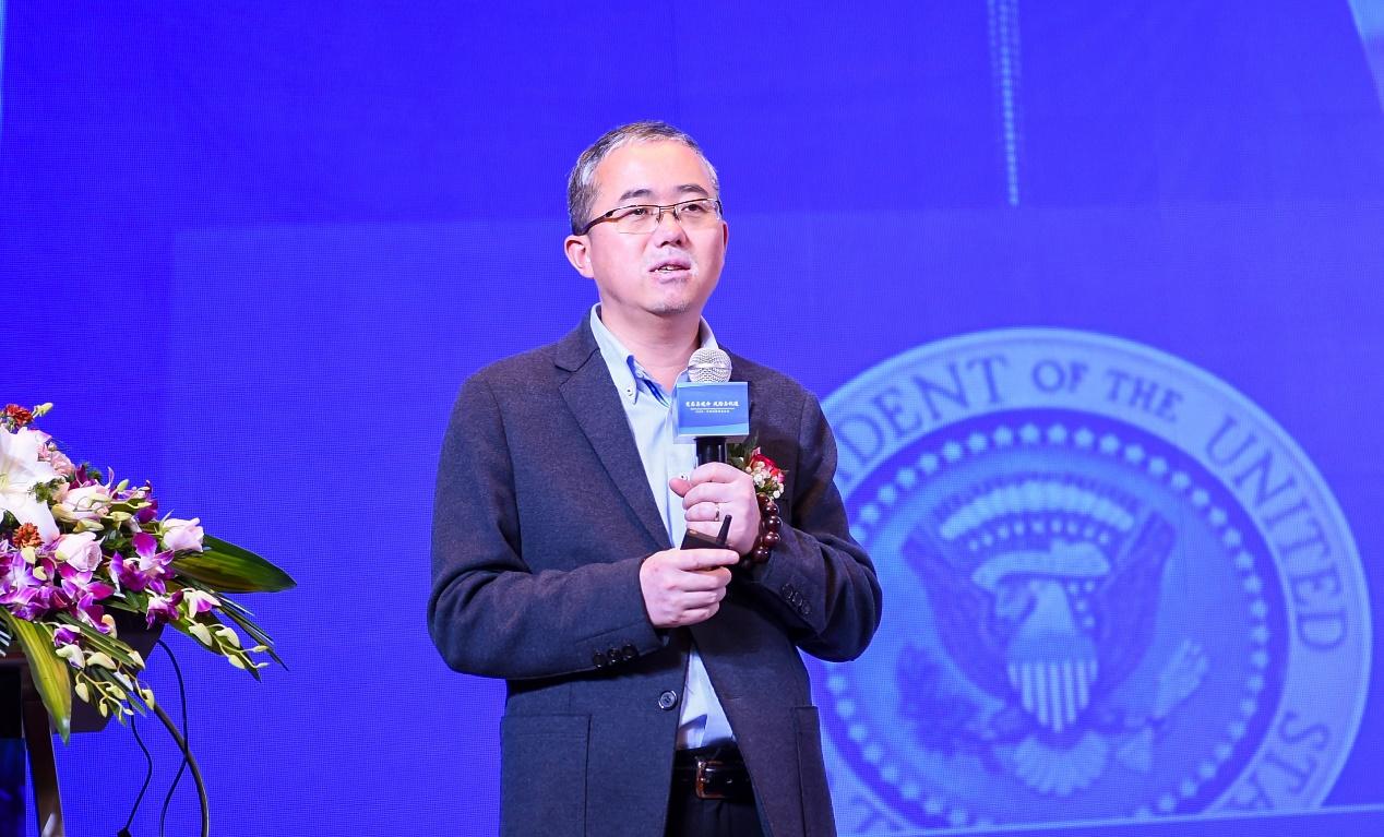 图/国是金融改革研究院院长刘胜军博士在主题演讲