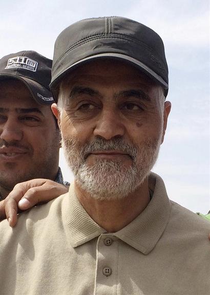 图为伊朗伊斯兰革命卫队领导人卡西姆·苏莱马尼