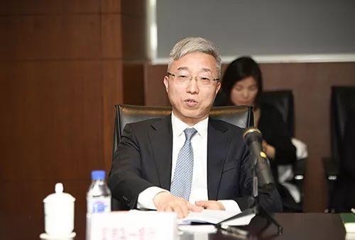 台资银行工作委员会主任、富邦华一银行董事长马立新做工作总结