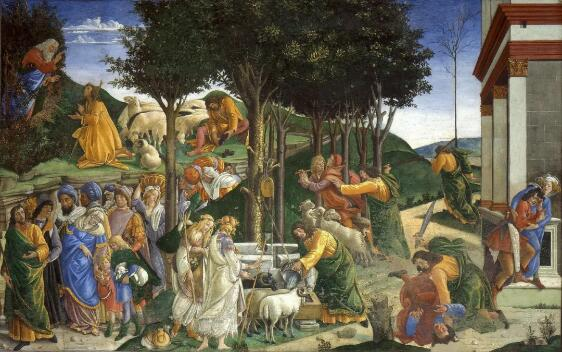 摩西的生平 波挑切利 1483 年