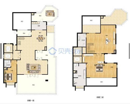 262㎡4室2厅3卫户型图