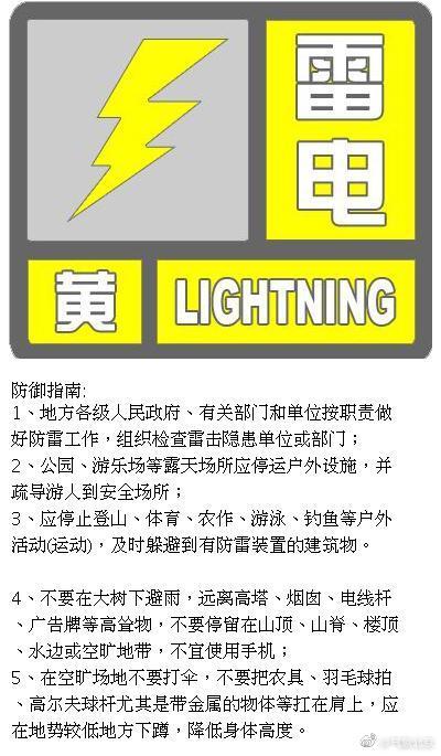 北京升级发布雷电黄色预警:局地短时雨强较大