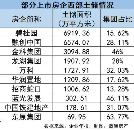 (《2019中国西部房地产50强企业》;图片来源:中指院)