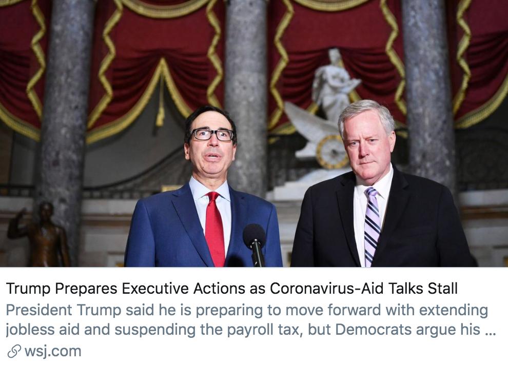 确诊超494万,美国两党仍在斗,疫情救助法案谈判再破裂