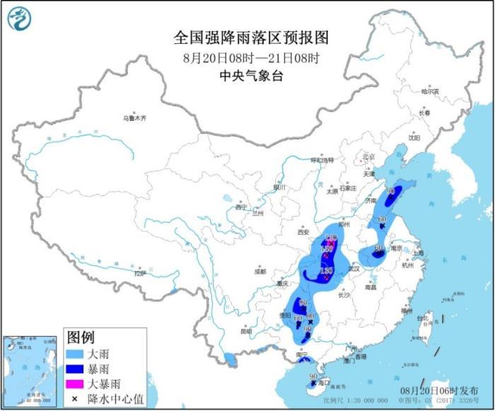 中央气象台发布暴雨黄色预警 湖南山东等地有大到暴雨