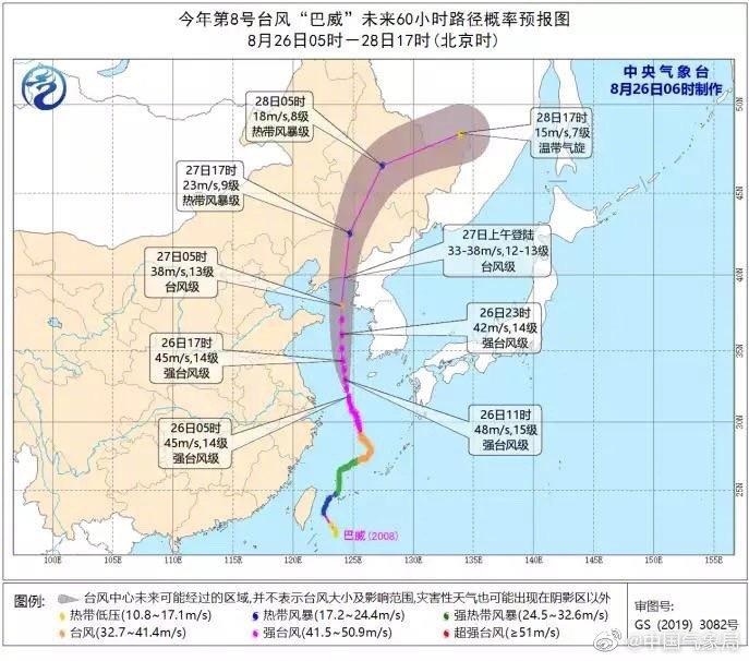 """台风""""巴威""""一路北上,或将为1949年来登陆辽宁最强台风"""