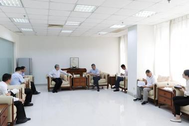 海南银保监局傅平江会见中国旅游集团有限公司董事长万敏一行
