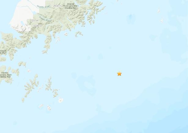美国阿拉斯加附近海域发生5.4级地震 震源深度21千米