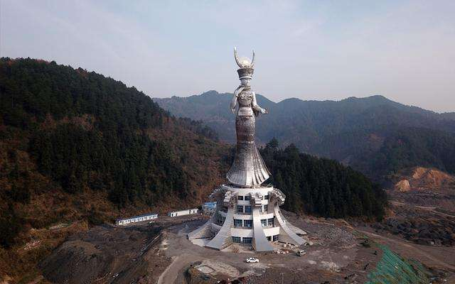 贵州剑河88米巨型雕塑投资方为当地国企