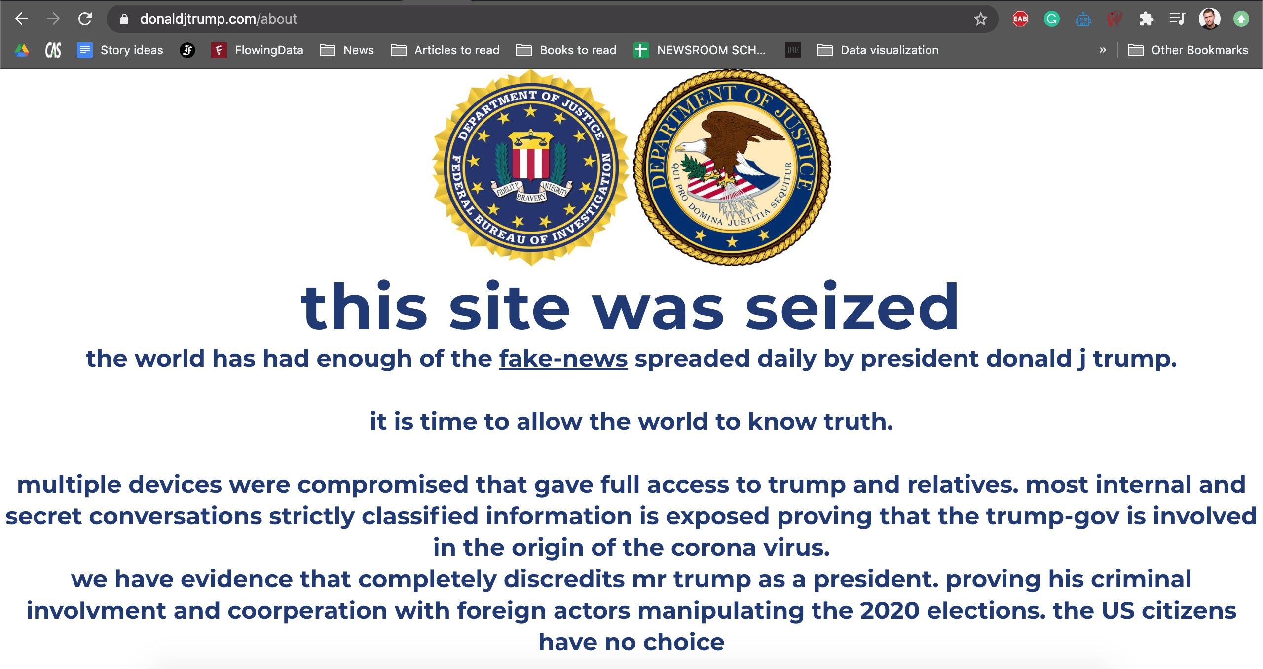 """特朗普竞选网站被黑:特朗普""""秘密黑料""""泄露?还是数字货币骗局?"""