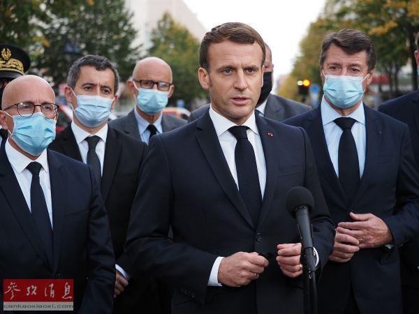 """法媒:疫情与恐袭令马克龙""""腹背受敌"""""""
