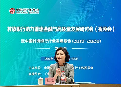 中国银行业协会党委委员、副秘书长张芳讲话