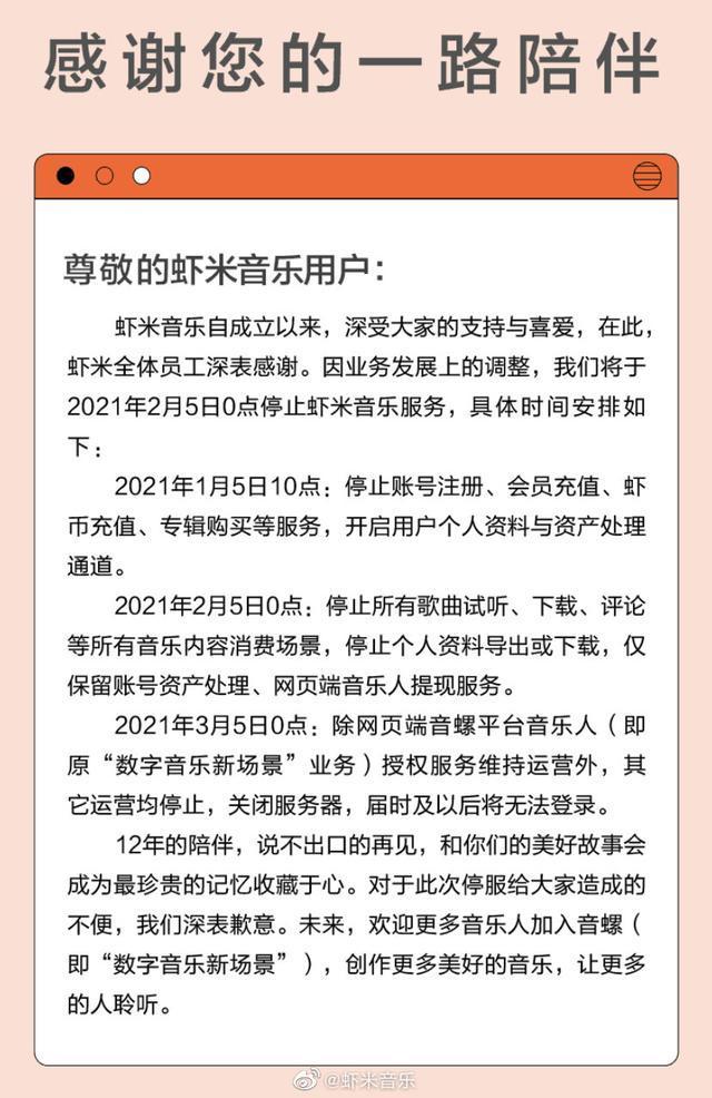 usdt自动充提教程网(www.6allbet.com):虾米音乐宣布2月5日关停:歌迷们怎么办? 第2张