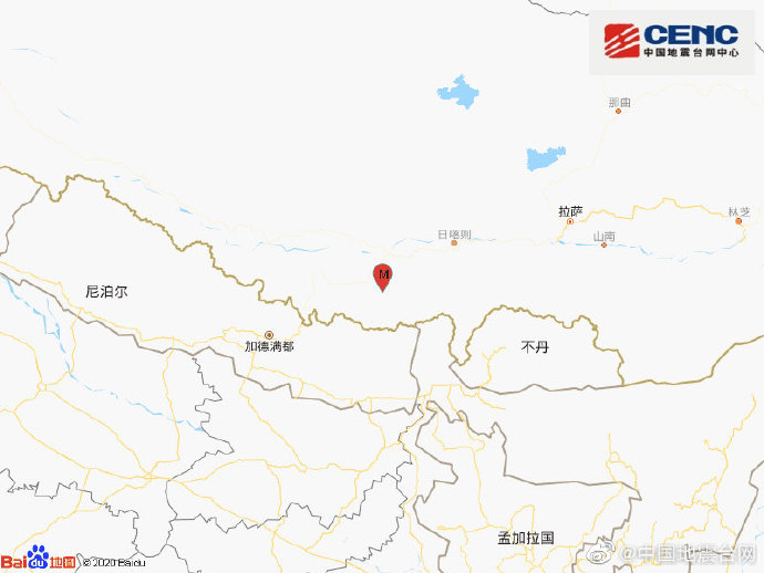 西藏日喀则市定日县发生4.7级地震