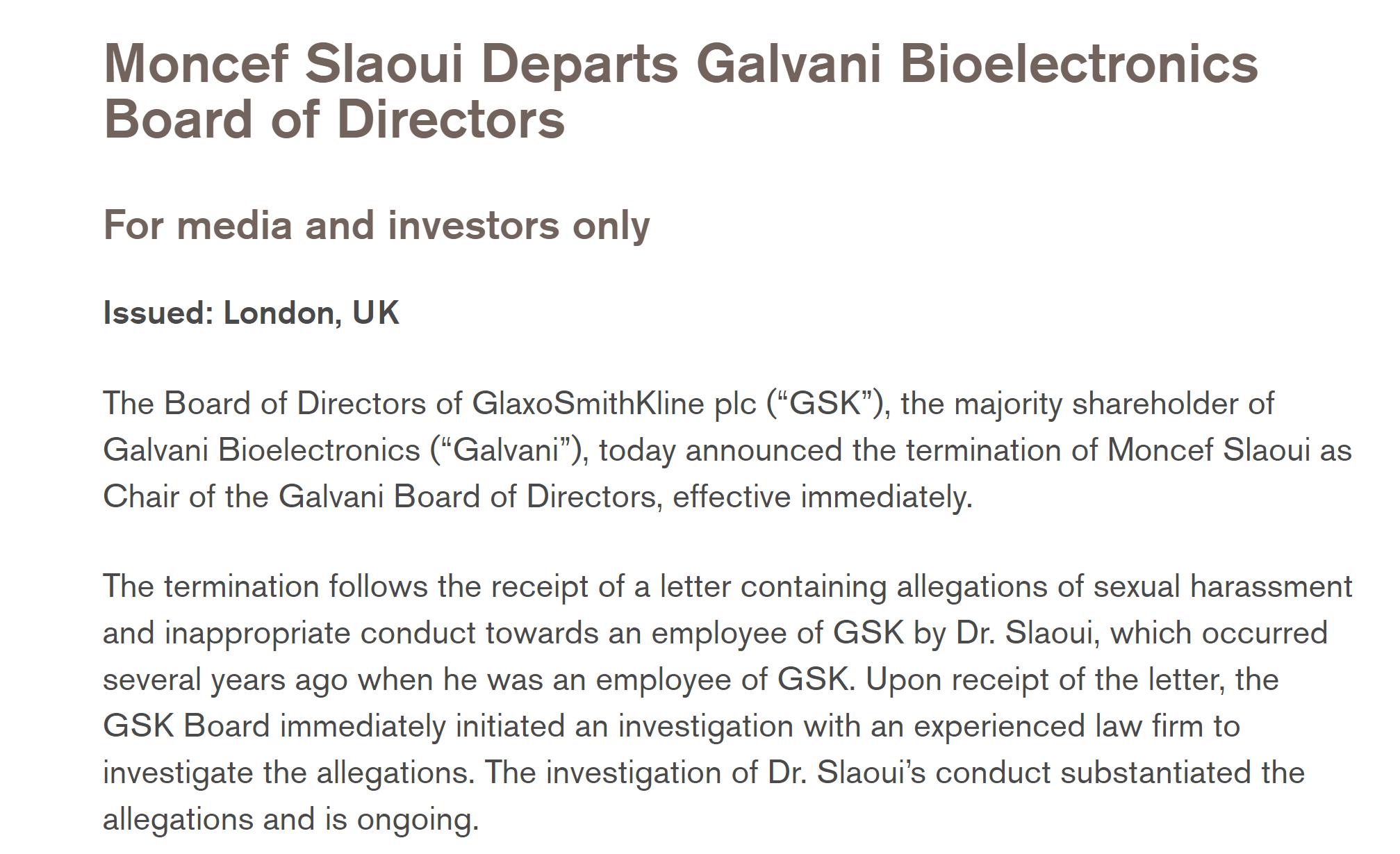被曝存不当行为 前美国政府疫苗计划负责人遭葛兰素史克开除