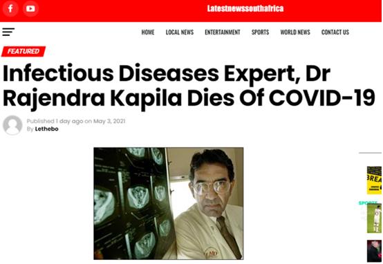 """""""打过两针辉瑞疫苗的美传染病学专家在印感染新冠死亡"""",这事印媒承认了,美媒还在沉默"""
