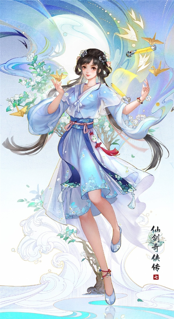 《仙剑奇侠传7》主角新海报:短裙美女身姿诱人
