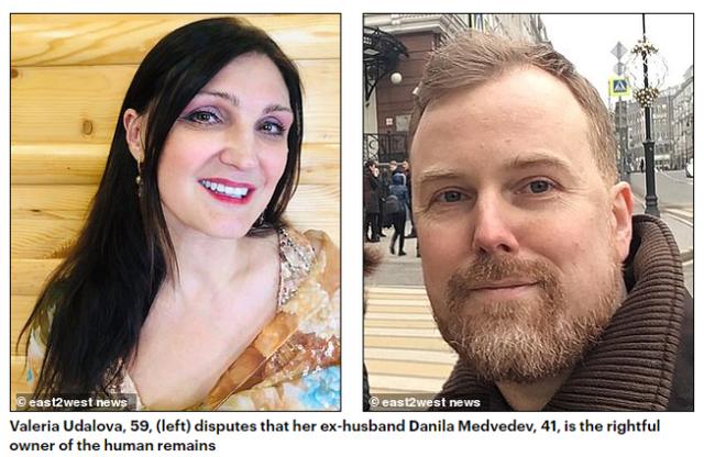俄罗斯夫妻闹离婚,抢夺一批冷冻尸体