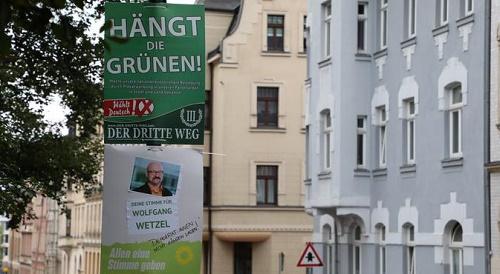 德媒:德国极右小党竞选海报声称要吊死绿党 法院出手禁止