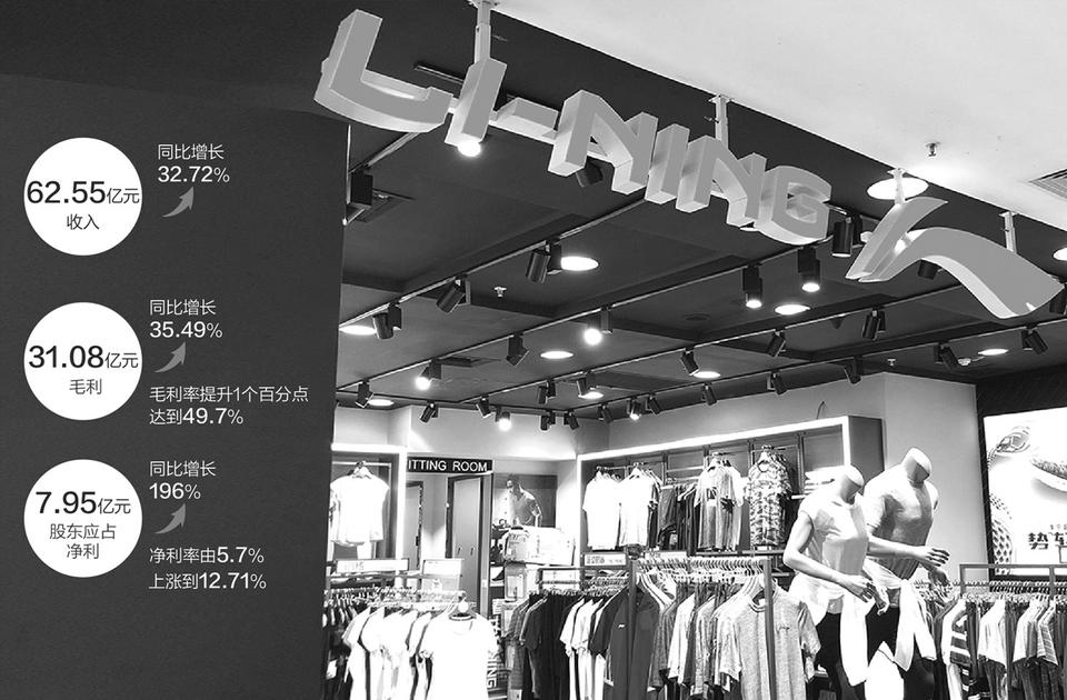 经销渠道优势显现 李宁上半年净赚近8亿